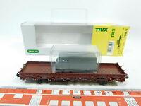 AT31-0,5# Trix H0/AC 24201-11 Flachwagen DB NEM KK + Wiking-Post-Modell NEUW+OVP