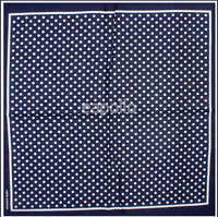 DV Fashions 100% Cotton Large Navy Blue Polka Dot Neck Tie Scarf DV186