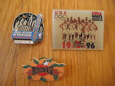 Vintage lot 3 NBA BASKETBALL PINS 1996 Dream Team 1998 Madison Square Garden