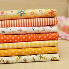 "Yellow Series 7 Assorted Pre-Cut Charm Cotton Quilt Fabric 19.7"" Fat Quarters"