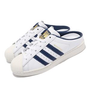 adidas Originals Superstar Mule White Navy Gold Men Unisex Casual Loafers FX5859
