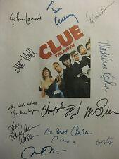 Clue Signed Movie Script X12 Madeline Kahn Tim Curry Christopher Lloyd Mull rpnt