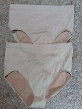 Rhonda shear 2 pairs of nude high waist pants size XL jacquard design