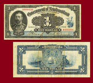 NEWFOUNDLAND 1 DOLLLAR 1920. UNC - Reproduction