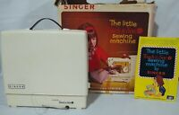 VINTAGE 1966 SINGER LITTLE TOUCH & SEW SEWING MACHINE MODEL 67-A -23 W/ BOX