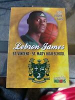 2002 Rookie Phenoms Rookie Gold LeBron James St. Vincent St. Mary Card