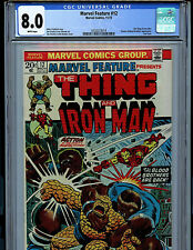 Marvel Feature #12 CGC 8.0 VF  Marvel Comics 1st Marvel 2 in 1 Thanos's Base K10