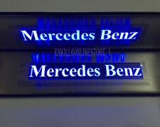 4* Blue LED Light Door Sills Plate Gruad for Mercedes-Benz E-Class W210 211 W212