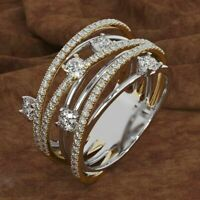 Gorgeous White Sapphire Engagement Ring 925 Silver Wedding Fashion Jewelry Gifts