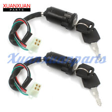 2 Set Ignition Key Switch For Chinese Quad Atv 50cc 70cc 90cc 110cc 125cc TaoTao