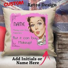 Personalizado Dinero No Puede Comprar De Maquillaje Estilo Vintage Y Retro De Amortiguador de cubierta de lona Regalo cd8c