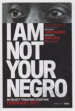 2017 I Am Not Your Negro Promotion Card Samuel Jackson James Baldwin Documentary