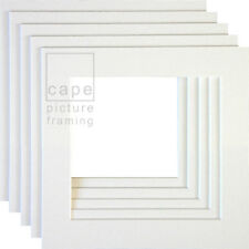 Square Picture Photo Mounts, Pack of 10, Conservation White Core, Instagram