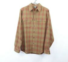 Royal Robbins Mens Small Relaxed Fit Long Sleeve Outdoor Hiking Camp Shirt Plaid