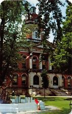GOSHEN INDIANA ELKHART COUNTY COURT HOUSE POSTCARD c1960s
