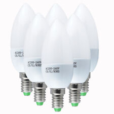 6 12x E14 SES 3W SMD LED Candle Chandelier Light Bulbs Warm/Cool White Spotlight