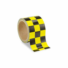 Low Vision Checkerboard Adhesive Tape: Yellow and Black - 3 Inch Wide