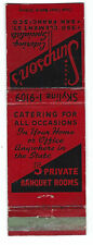 Vintage Matchbook Cover Simpson's Catering San Francisco