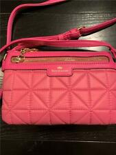 Juicy Couture Crown Jewel Pink Logo Quilted Crossbody Bag
