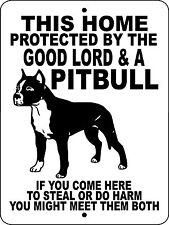 "PIT BULL Guard Dog Sign,9""x12"" Aluminum Sign, Dogs, Vinyl Decal ,GLPB"