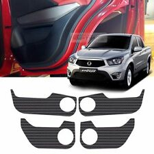 Carbon Door Decal Sticker Cover Kick Protector For SSANGYONG 13-15 Actyon Sports