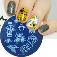 Nail Art Stamping Plate Image Decoration Flamingo Flowers Tropical Floral Stz123