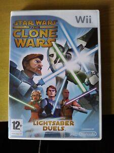 Star Wars: The Clone Wars - Lightsaber Duels (Nintendo Wii, 2008) - European Ver