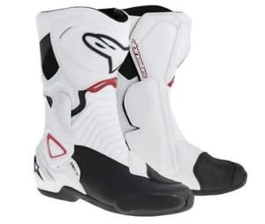 ALPINESTASR SMX 6 MOTORCYCLE MOTORBIKE RACING / SPORT BOOTS - WHITE EU43 UK9