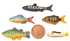 1 12 Scale Set of 5 Loose Polymer Clay Fish for a Dolls House Kitchen or Shop B
