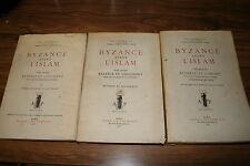 BYZANCE AVANT L'ISLAM par PAUL GOUBERT S.J. 3 VOLUMES TRES BON ETAT 1951/56/65