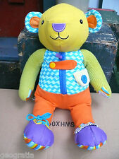 Manhattan Toy Parents Busy Hands Colourful Bear Dress Up Plush