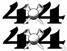 """4X4"" DECALS w/Golfball , Ford,Dodge,Chevy,Toyota"