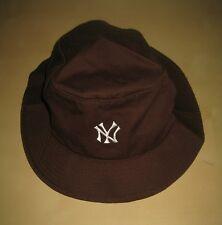 NWOT AMERICAN NEEDLE NEW YORK YANKEES MEN BUCKET HAT CAP SIZE S/M BROWN