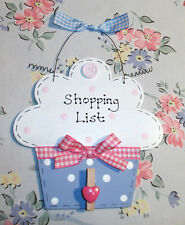 PERSONALISED CUPCAKE SIGN PLAQUE ~ Shopping List & Memo ~ Gift Present~ Kitchen