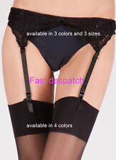SEXY LACE SUSPENDER BELT AND MATCHING SHINE STOCKINGS