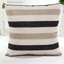 Casual Striped Print Sofa Bed Cafe Home Decor Festival Pillow Case Cushion Cover