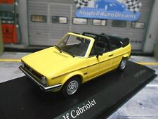 VW Volkswagen Golf 1 MKI Cabriolet Cabrio gelb yellow 1980 Minichamps RAR 1:43