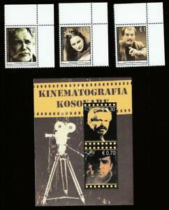 KOSOVO 2010 CINEMA, ACTORS Mi.147-49,Bl.12 MNH SET + SOUVENIR SHEET