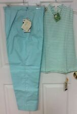 White Stag vintage clothing top size large pants size 20 blue green set size 94