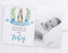 10 PERSONALISED PETER RABBIT THANK YOU CARDS - ANY OCCASION OR MESSAGE