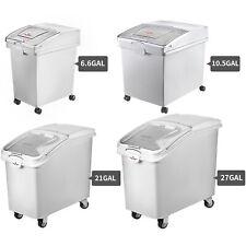 More details for vevor ingredient storage bins on wheels food rice flour bin clear sliding white