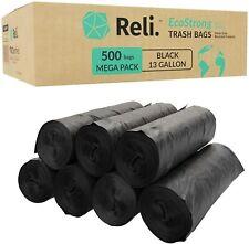 Reli. EcoStrong 13 Gallon Trash Bags (500 Count Bulk) Eco-Friendly
