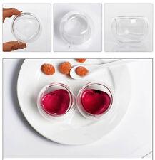 50ml 1.7 fl.oz Heat Resistant Handmade Double Wall Glass Chinese Kongfu Tea Cup