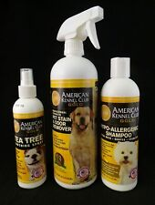 American Kennel Club Gold Lot Pet Stain Odor Remover Tea Tree Spray Pet Shampoo