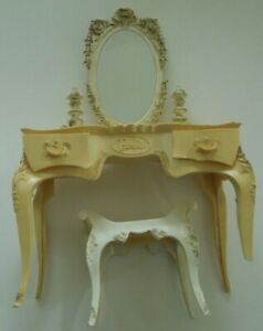Vintage Barbie Suzy Goose Dressing Table with Mirror & Bench