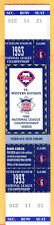 *CLINCHER! SCARCE/MINT FULL TICKET! 1993 NLCS GAME #6-PHILLIES/BRAVES