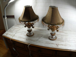 2 x French Style Table Lamps