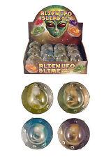 2 X SLIM UFO WITH ALIEN BABY (N14 151)