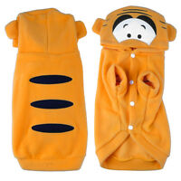 Cute Fancy Cat Dog Apparel Costume Pet Hoodie Clothes Coat Puppy Outfit Tiger