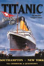Tôle plaque 20x30 cm titanic white star line the worlds largest Liner rv 300/040